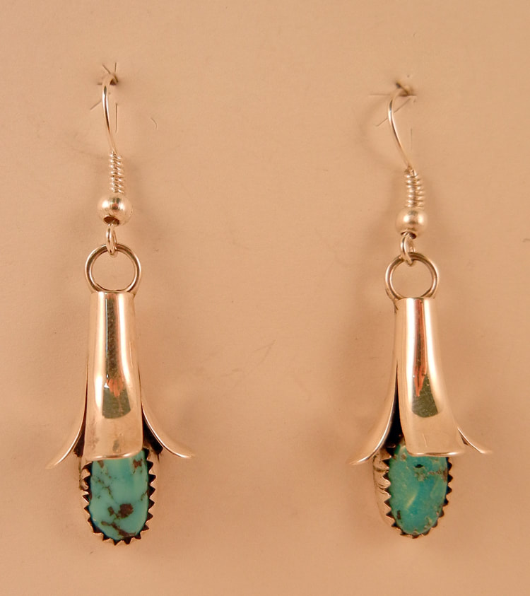 Navajo Doris Squash Blossom Earrings